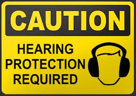 Caution - hearing protection needed
